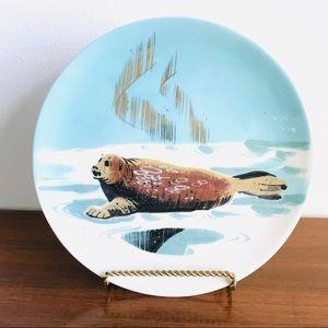 Vintage mid century modern signed seal plate